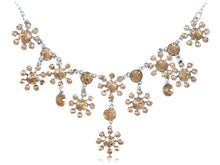 Load image into Gallery viewer, Topaz Orange Yellow Floral Flower Princess Collar Necklace