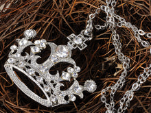 Load image into Gallery viewer, Queen Crown Princess Pendant Necklace