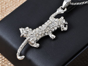 Czech Scary Leopard Necklace Pendant