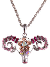 Load image into Gallery viewer, Dominating Pink Sheep Head Necklace Pendant