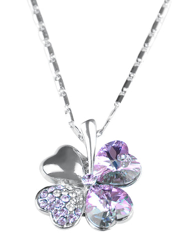 Lucky Irish Four Leaf Heart Necklace