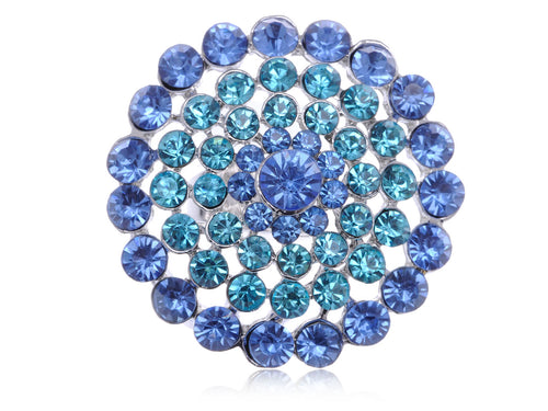 Stunning Face Aqua Blue Snowflake Flower Ring