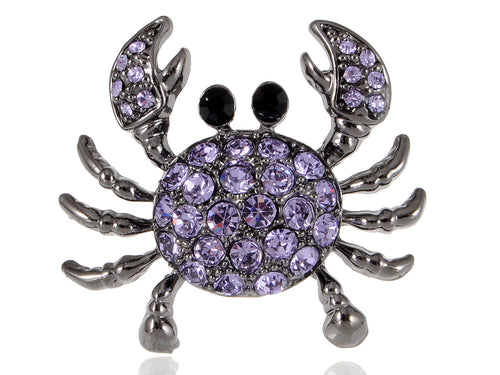Lavender Fun Sea Claws Purple Amethyst Crab Ring