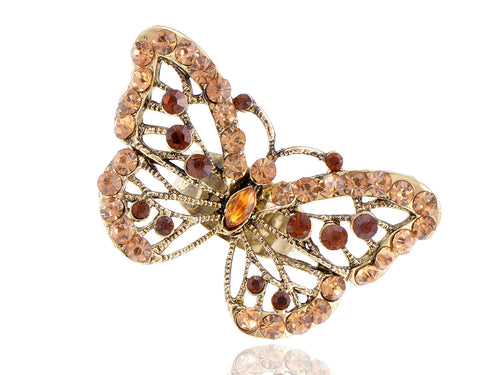 Vintage Like Topaz Vintage Butterfly Ring