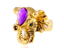 Load image into Gallery viewer, Safari Elephant Head Trunk Ring