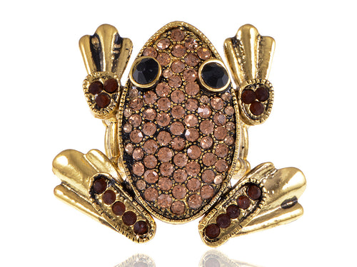 Antique Cartoon Abstract Topaz Leap Frog Toad Ring