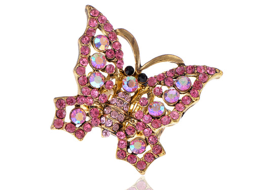 Rose Pink Fairy Tale Butterfly Ring