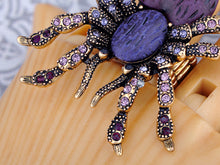 Load image into Gallery viewer, Purple Heart Spider Tarantula Ring