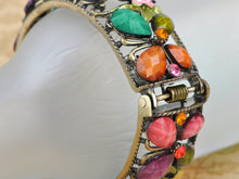 Load image into Gallery viewer, Multicolor Abstract Butterfly Insect Flower Garden Bangle Cuff Bracelet