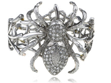 Load image into Gallery viewer, Silver Spider Web Bangle Bracelet