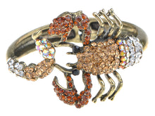 Load image into Gallery viewer, Scorpion Wrap Bangle Bracelet Topaz Colored Scorpio