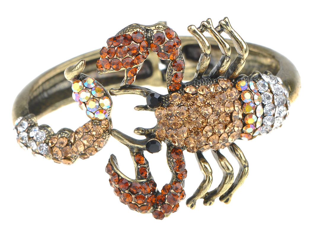 Scorpion Wrap Bangle Bracelet Topaz Colored Scorpio