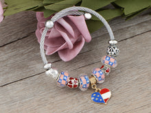 Load image into Gallery viewer, 4th Of July American USA Flag Bracelet