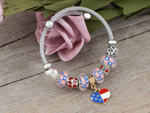 4th Of July American USA Flag Bracelet