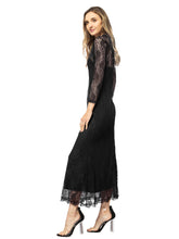 Load image into Gallery viewer, Victorian Long Sleeve Lace Maxi Dress