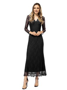 Victorian Long Sleeve Lace Maxi Dress