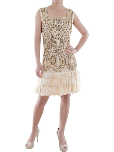 1920s Art Deco Beaded Mini Dress