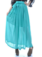 Load image into Gallery viewer, Anna-Kaci Long Ankle Length Pleated Peasant Girl Maxi Skirt
