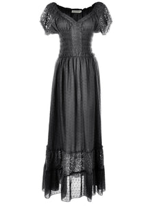 Renaissance Boho Lace Maxi Dress