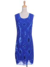 Load image into Gallery viewer, Great Gatsby Art Deco Sleeveless Dress