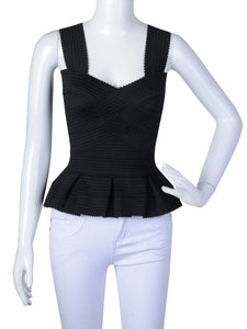 Romantic Fitted Bandage Peplum Top