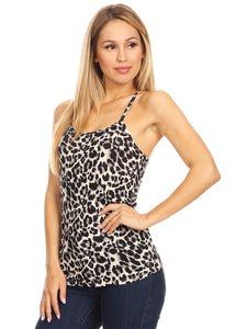 Leopard Print Basic Tank Top