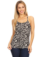 Load image into Gallery viewer, Leopard Print Basic Tank Top