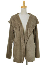 Load image into Gallery viewer, Soft Fleece Teddy Hooded Over Coat