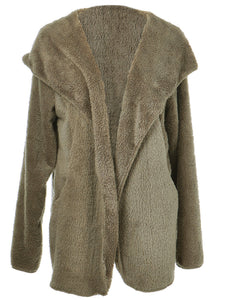 Soft Fleece Teddy Hooded Over Coat