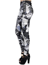 Load image into Gallery viewer, Marilyn Monroe Newspaper Leggings