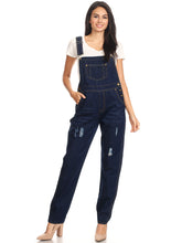 Load image into Gallery viewer, Vintage Adjustable Strap Denim Overalls