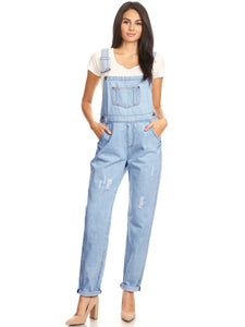Vintage Adjustable Strap Denim Overalls