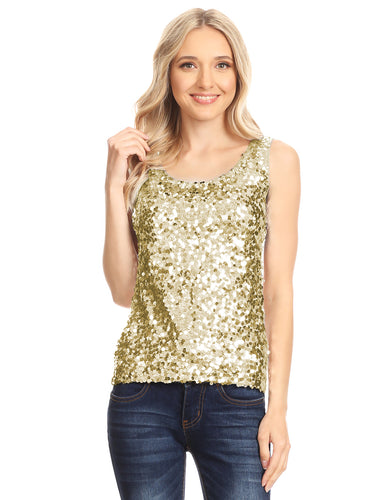 Glitz and Glam Sequin Dressy Top