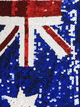 Load image into Gallery viewer, Australian Flag Sequin Slip Dress