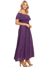 Load image into Gallery viewer, Grecian Ruffle Stretch Maxi Dress
