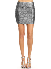 Load image into Gallery viewer, Anna-Kaci Womens Vegas Night Out Sleek Stretch Shiny Sequin Mini Pencil Skirt