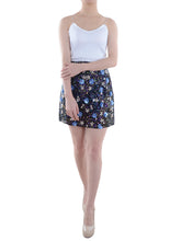 Load image into Gallery viewer, Anna-Kaci Womens Short Sequin Mini Skirt with Handed Beaded Flowers