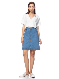 Button Up A-line Vintage Skirt