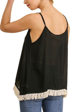 Load image into Gallery viewer, Anna-Kaci Womens Casual Drape Tassel Hem Sleeveless Bohemian Peasant Cami Top