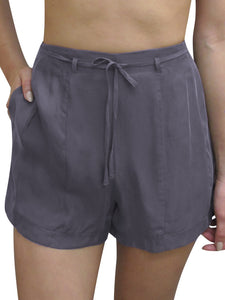 High Waisted Formal Belted Shorts
