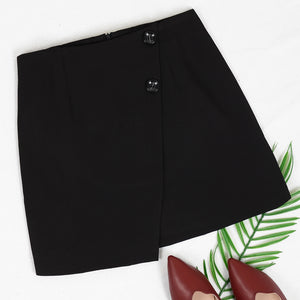 Asymmetrical Tulip Hem Mini Skirt