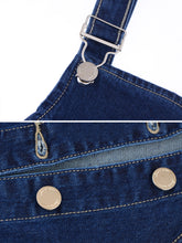 Load image into Gallery viewer, Anna-Kaci Womens 90s Fashion Adjustable Strap Denim Jean Overall Dress