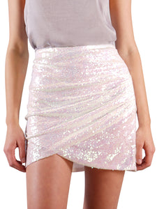 Short Sequin Mini Club Skirt