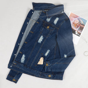 Distressed Boyfriend Jean Jacket