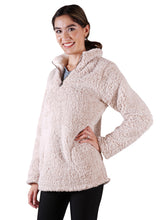Load image into Gallery viewer, Soft Sherpa Pullover Zipper Sweater
