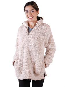 Soft Sherpa Pullover Zipper Sweater