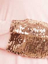 Load image into Gallery viewer, Sequin Sparkle Long Sleeve Cuff Top