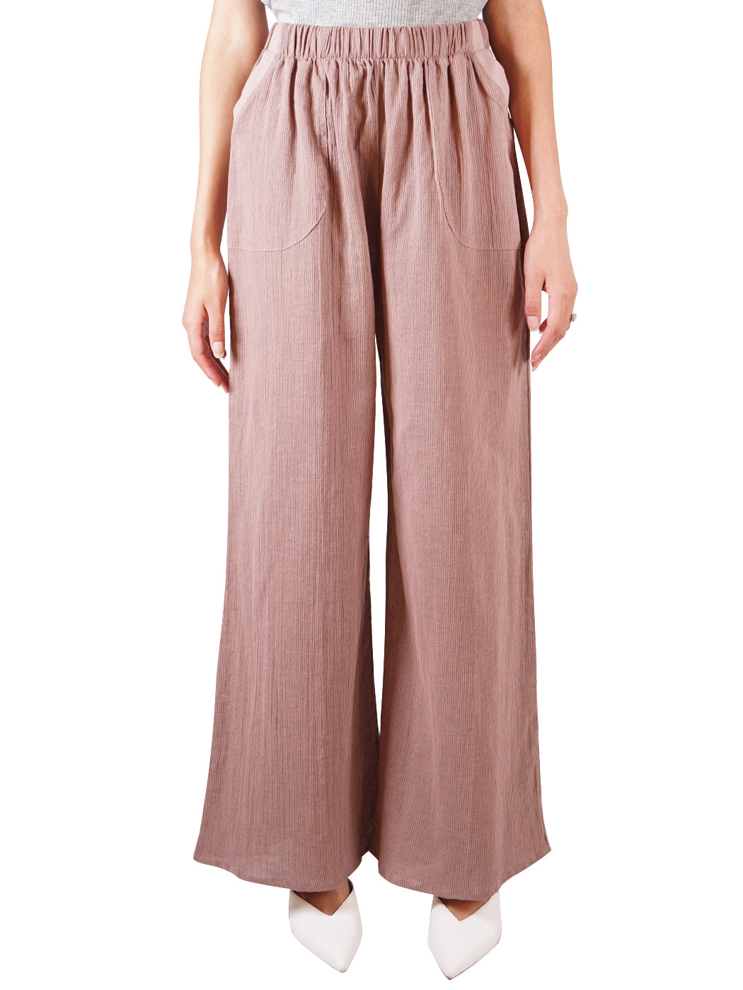 Casual Cotton Elastic Waist Pants