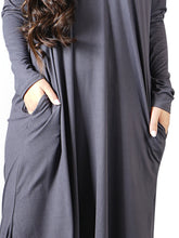 Load image into Gallery viewer, Long Sleeve Casual Maxi Dress