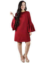 Load image into Gallery viewer, Bell Sleeve Keyhole Tunic Dress